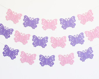 Butterfly Party Banner - Customizable Colors