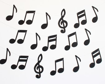 Music Notes Party Banner - Customizable Colors