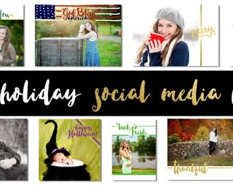 Social Media holiday bundle 'Minimal'