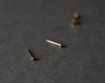 Gold Filled Dot Stud Earrings Tiny 2mm Dot Studs Earrings