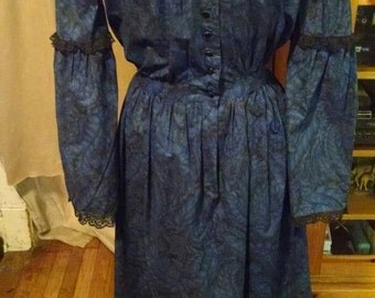 free shipping... Civil war afternoon dress Victorian reenactment petite women's teen modest costume