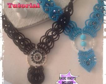 Micro Macrame Tutorial DIY Beaded Macrame Bohemian Necklace
