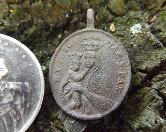 Civil War Soldier's Religious Medal - Dug From a NY Camp in Stafford Heights, VA - Original Pendant, Authentic 1800s Antebellum Era Antique
