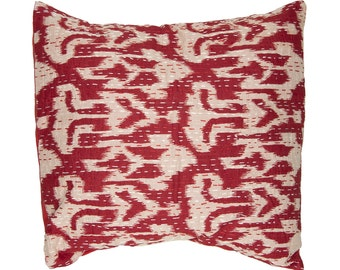 Cushion Cover - Red Ikat Design