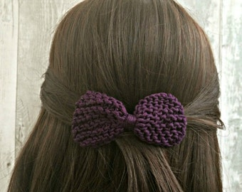 Hair Barrette, 37 Colours, Hair Clip Wedding, Wedding Hair Accessories, Hair Bows for Girls, Knit Hair Bow Clip, Gift for Women, Unique Bows