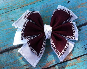 Game Day Fabric Hair Bow
