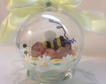 """Little Baby Bumble Bee...Polymer Clay 4""""  Keepsake ornament"""