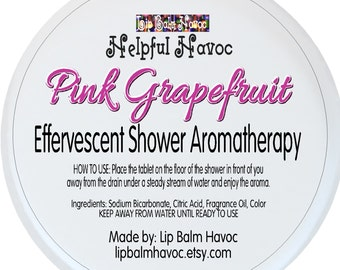 Pink Grapefruit - Effervescent Relaxing Shower Aromatherapy - Shower Steamer