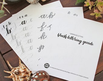 Lowercase Alphabet - Learn Brush Lettering - Calligraphy Guide