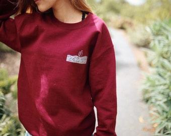 I'm Good thumbs up sweatshirt in burgundy