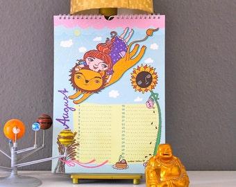 """Geburtstagskalender """"12 im Weckla"""", Wandkalender"""