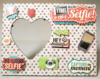 Heart Picture frame/Selfie/Memory/Funny/Small/Home decor/Frame