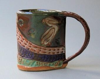 Pelican Mug, Hand-built Stoneware