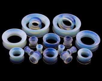 Opalite Ear Tunnels Plugs - Sizes / Gauges (0G - 2 Inch) Sold In Pairs