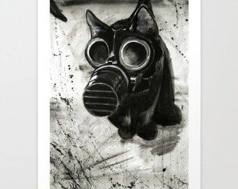 Gas Mask Cat 11x14