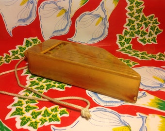 Vintage beautiful wooden hand made train whistle
