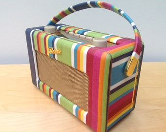 Roberts Revival DAB Radio RD60 in Stripes Oilcloth