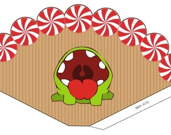 Om Nom Party Cone- Digital File