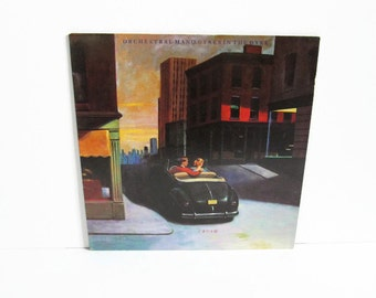 Orchestral Manoeuvres In The Dark, Crush LP, Vinyl Record Album, Virgin Records, British Group, New Wave Synthpop, 1980's Music, Vintage