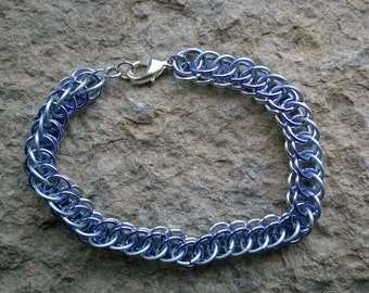 Half Persian 3-in-1 chainmaille bracelet 3 row - your choice of colours