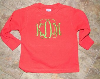 Monogrammed  Christmas Shirt for Infants, Toddlers, and Children
