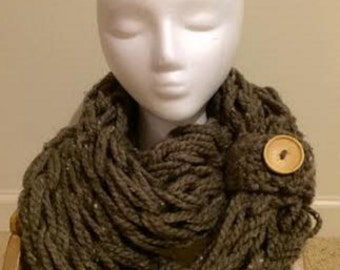 Super Chunky Infinity Scarf with Cuff