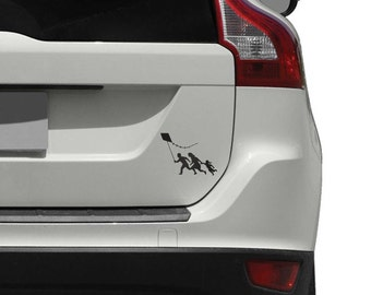Banksy Family With Kite Vinyl Car Decal for Cars, Trucks and Motorcycles