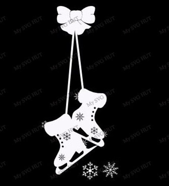 template for hanging pictures - hanging ice skates window decoration template