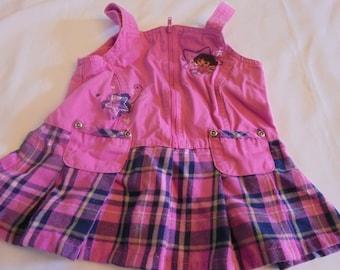 ADORABLE! Sz 24 mo Pink Dora the Explorer Jumper Dress