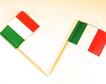 "50pc ""Italy flag"" tooth pick / cake topper (D43)"