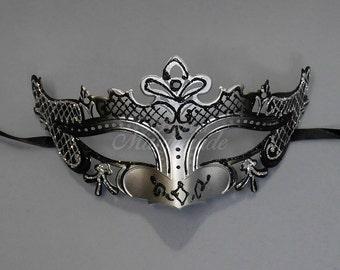 Children's Masquerade Mask, Petite Masquerade Mask, Black/Silver Masquerade Mask, Masquerade Ball, Kid's Costume Mask