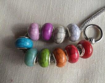 beads, large hole beads, european beads, charm beads, charm bracelets, euro beads, big hole beads, 01