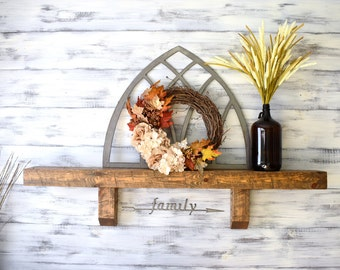 Fireplace Mantel, Mantel Shelf, Distressed Wood, Rustic Home Decor, Corbel Shelf, Wall Shelf, Wood Shelf, Mantle