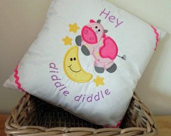 Hey Diddle Diddle Nursery Rhyme Cushion