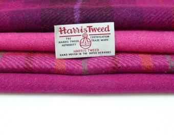Harris Tweed Fabrics - 4 Piece Mix - Pinks