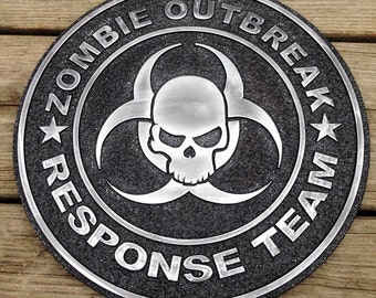 Zombie Outbreak Response Team 3D Plaque, Wall decor, Gifts for Men, handmade, Art, Wall plaque