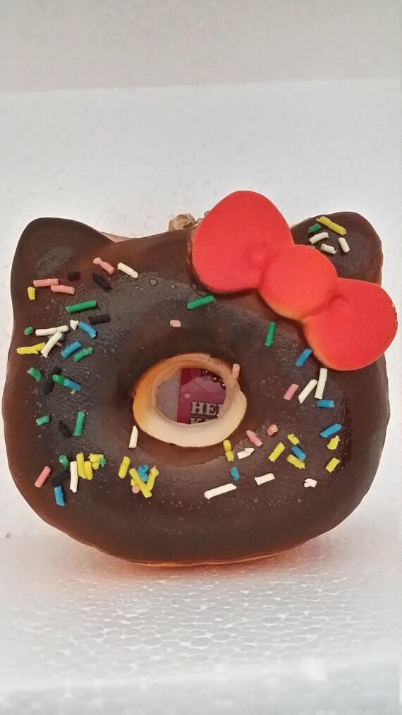 Kawaii kitty chocolate squishy donut