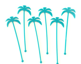 Palm Tree Drink Stirrers - Petite Party Studio