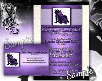 Dragon Wedding Invitations - RSVP Cards Available (Digital File)