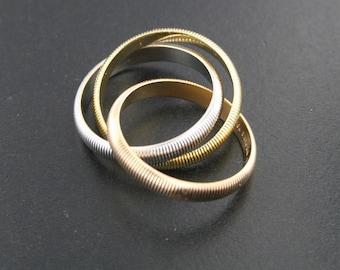 Tri Color Rolling Ring 18k gold