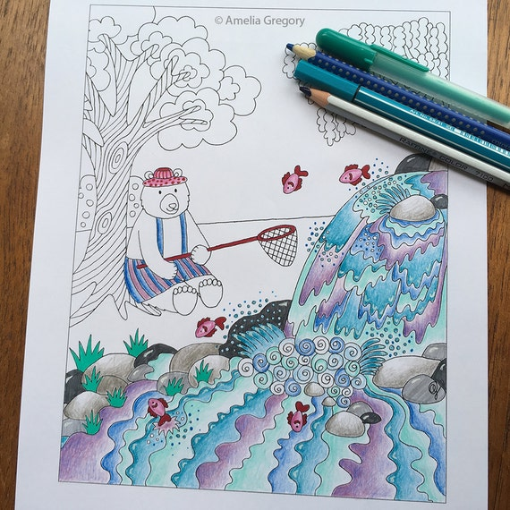 whimsical bear coloring pages - photo#33