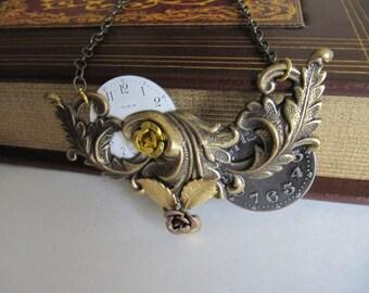 Steampunk, Women's Necklace, Steampunk Jewelry, Steampunk Necklace, Assemblage, OOAK, Neo Victorian, Art, Womens Necklace, Gift Idea