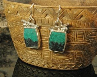 Garnet Landscape earrings