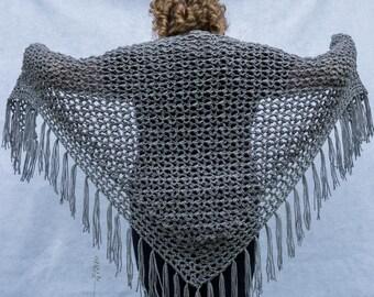 Crochet Shawl Pattern - Pebble Lace Crochet Shawl Instant Download PDF File
