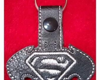 Superman versus Batman Superhero keyfob keyring