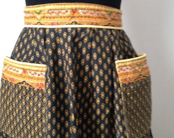 Long skirt, l ' Arlésienne, Style Soleiado, Vintage year 60, size XS, rare!