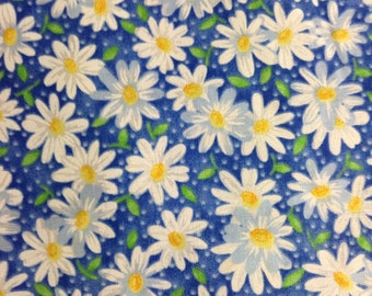 One Half Yard of Fabric - Packed Daisy Blue