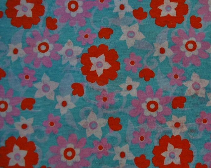Floral Cotton Knit Fabric