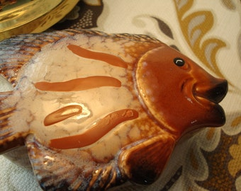 Vintage Fish Trinket Box - Ceramic - Excellent Condition!!