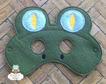 Snake Mask, Kids Dress Up Mask, Snake Costume Mask, Wool Blend Mask, Felt Snake Mask, Jungle Party Favor, Monkey Mask